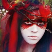 halloween-make-up-haar-haar-wald-natur-inspiriert-zwei-14
