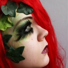 halloween-make-up-poison-ivy-idee-girl-rote-peruecke-25