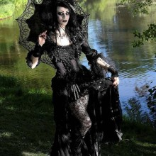 halloween witch costume ideas black lace leather