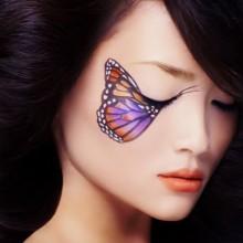 nicht-gruselige-make-up-butterfly-girl-ideen-31