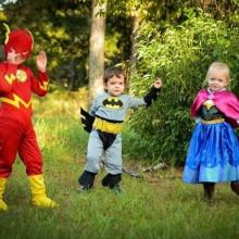 nicht-scary-halloween-kostueme-kinder-batman-prinzessin