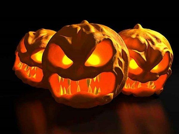 scary kuerbis gesichter halloween deko ideen. Black Bedroom Furniture Sets. Home Design Ideas