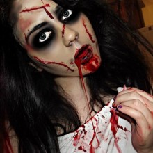 scary-halloween-kostueme-ideen-der-exorzist-halloween-make-up