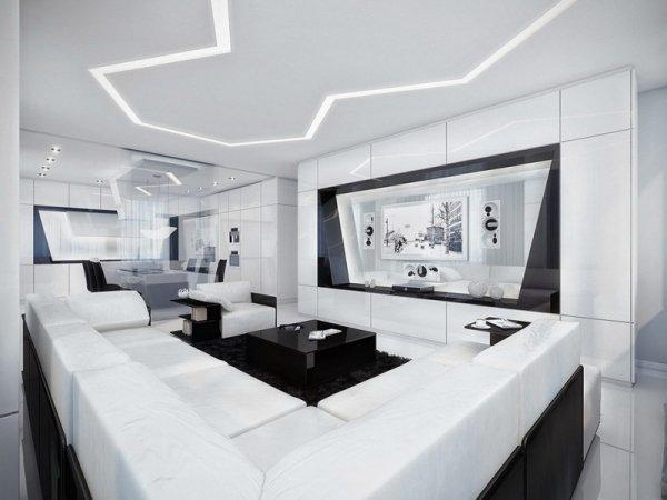 wohnzimmer mit streifen schwarz weiß grau | ruhbaz.com. haus ...