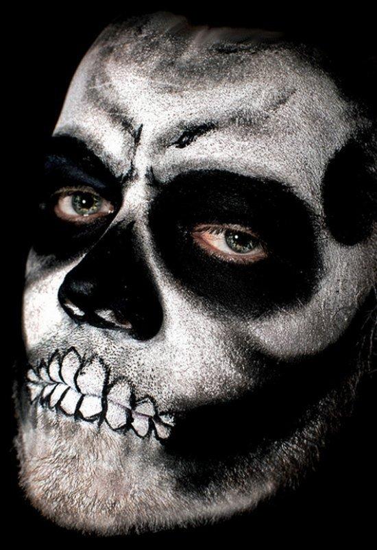 Skull Make Up Ideen Halloween Make Up Maenner 34 Kunstopde