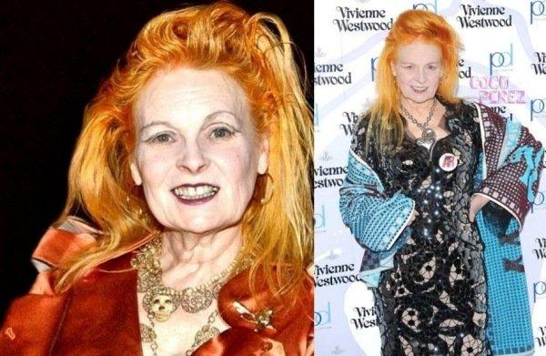 Vivienne Westwood Halloween Frisur Ideen Orange Haare Faerben 27